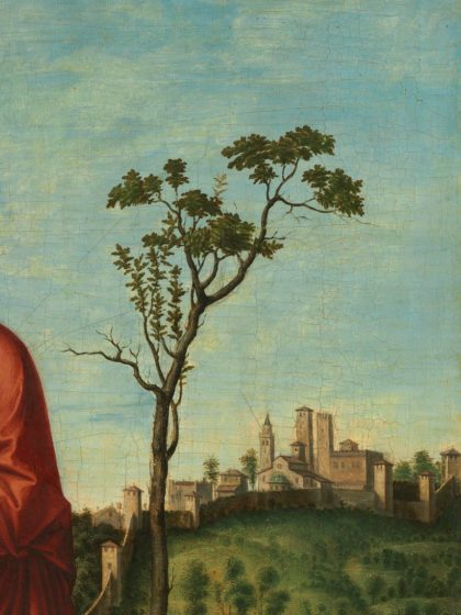 Cima da Conegliano (Italian, c. 1459 - 1517 or 1518 ), Saint Helena, c. 1495, oil on panel, Samuel H. Kress Collection